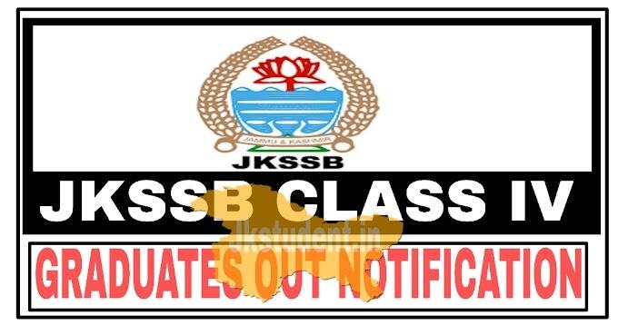 JKSSB Class IV Graduates Elimination Notification