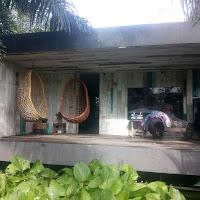 Vue de l'arrière du studio depuis le Bar of Samadi Bali Yoga Shala, Canggu, Bali