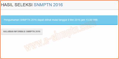 Tanggal Pengumuman SNMPTN 09 Mei 2016