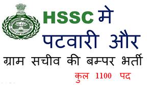 Haryana Public Service Commission Recruitment 2019 – 1100 Canal Patwari