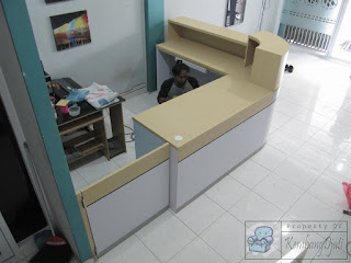 Meja Customer Service Model Lengkung Furniture Semarang