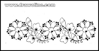 Design drawings for hand embroidery and machine embroidery saree border/sadi ka kinara drawings on paper.