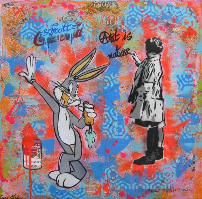 Французский уличный и студийный художник.