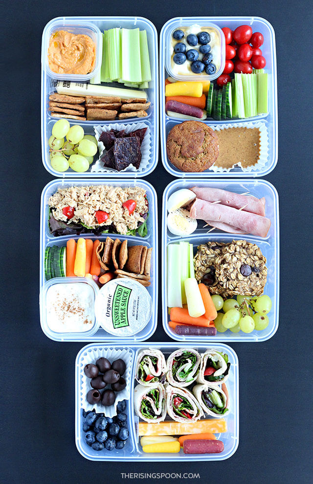 5 Healthy Make Ahead Cold Lunches (For Back to School & Work)