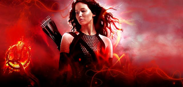 Jennifer Lawrence în rolul Katniss Everdeen din filmul The Hunger Games: Catching Fire