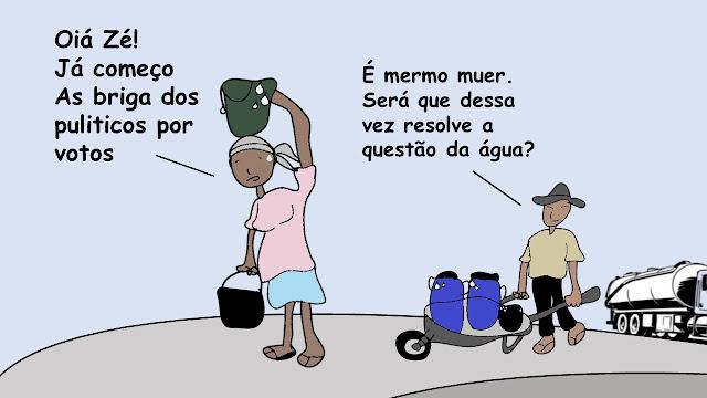 charge: a questão da água