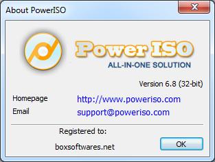PowerISO 6.9 Serial Key