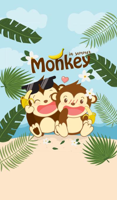 Monkey Summer. (Blue ver.)