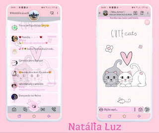 Cute Cats Theme For YOWhatsApp & Fouad WhatsApp By Natalia Luz