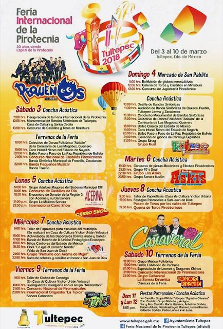 programa feria de la pirotecnia tultepec 2018