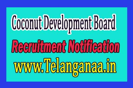 Coconut Development Board Recruitment Notification 2016