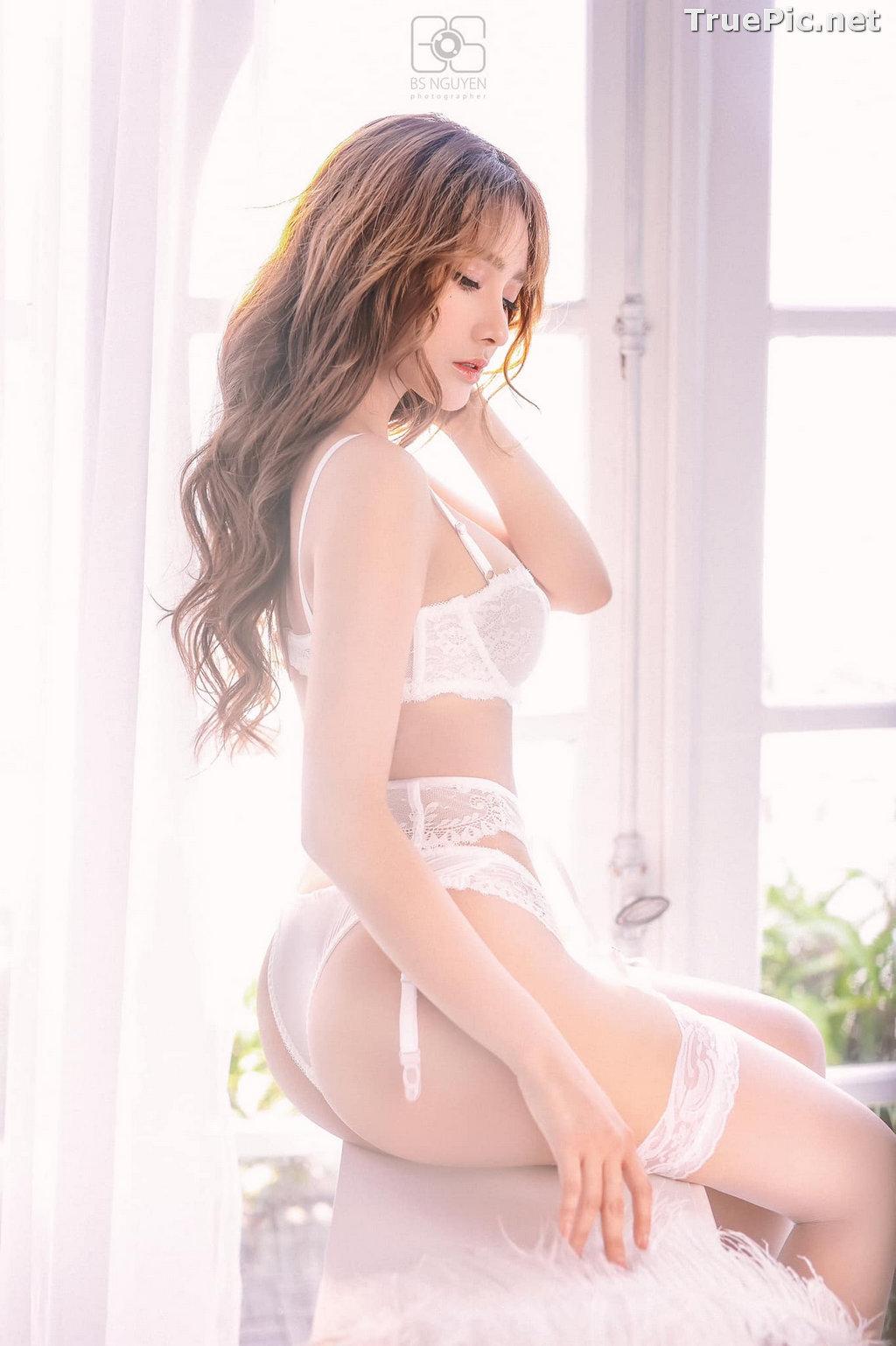 Image Vietnamese Model - Nguyen Thi Phi Yen - Beautiful Sexy White Lingerie - TruePic.net - Picture-15