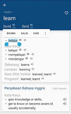 aplikasi kamus bahasa inggris dan cara pengucapannya