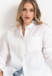 Armani Exchange - Дамска ленена Риза с джоб