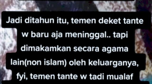 Wanita Mualaf Meninggal Dimakamkan Secara Non Islam, Orang Terdekat Alami Kejadian Aneh