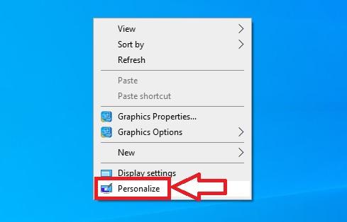 Hiển thị các biểu tượng icon ra màn hình desktop