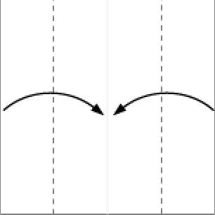 Bước 2: Gấp 2 cạnh giấy vào trong