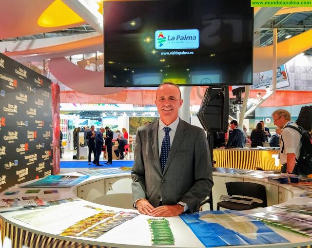 La Palma asiste a la World Travel Market con el objetivo de afianzar su conectividad aérea con distintos mercados