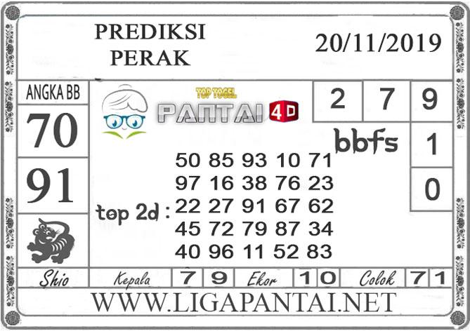 """PREDIKSI TOGEL """"PERAK"""" PANTAI4D 20 NOVEMBER 2019"""