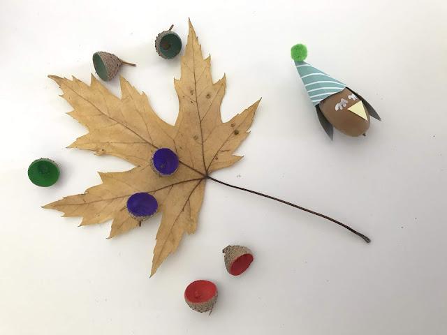 DIY Memory aus Eicheln Herbst Aktivitaeten fuer Kinder Jules kleines Freudenhaus