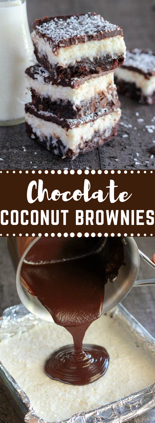 CHOCOLATE COCONUT BROWNIES #dessert #cake #chocolate #brownies #coconut