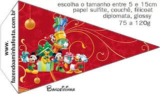 Navidad de Mickey y sus Amigos: Imprimibles para Fiesta para Imprimir Gratis.
