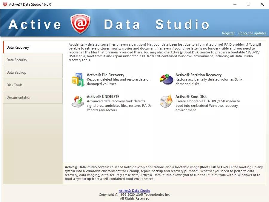 تحميل برنامج Active@ Data Studio 16.0.0 للنسخ الاحتياطي والاسترداد