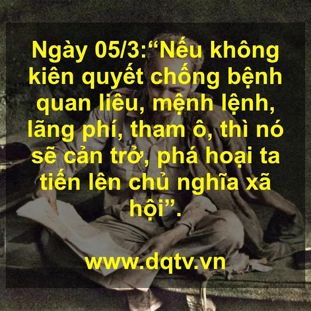Ngày 05/3 : Lời Bác Hồ dạy ngày này năm xưa!