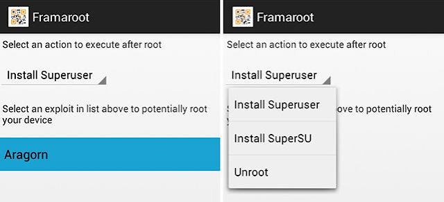 root application android