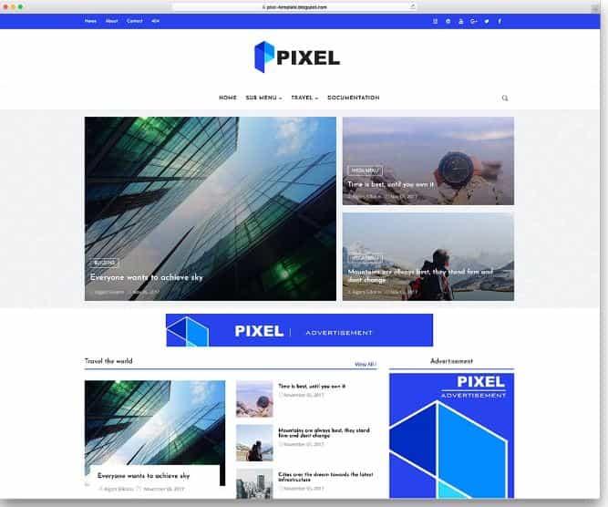 Pixel Blogger templates