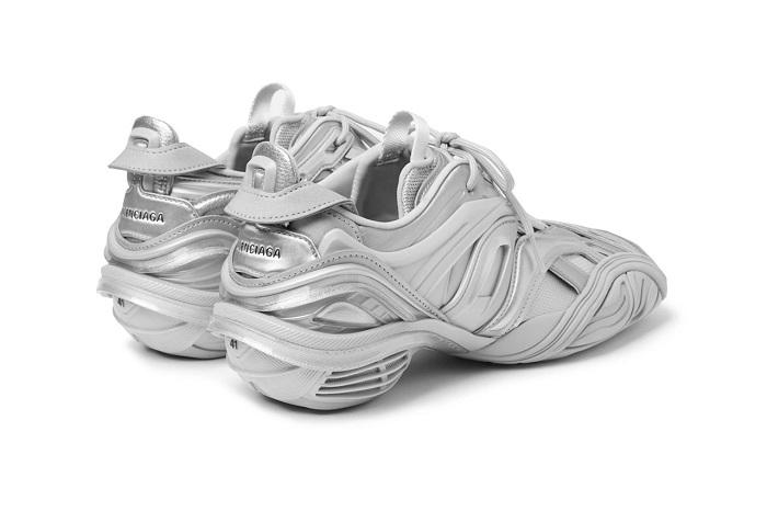 Balenciaga Alien Tyrex Sneaker In Metallic Silver