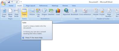 Tutorial cara membuat tabel di kursus komputer ymii cileungsi