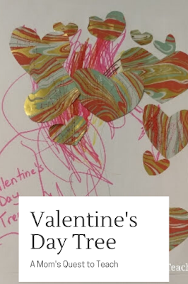 Valentine's Day Tree with recycled materials