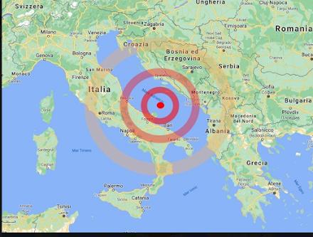 Ισχυρός σεισμός σημειώθηκε πριν από λίγο στην κεντρονότια πλευρά της Αδριατικής