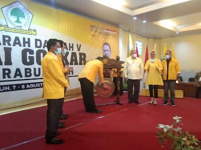 Ketua DPD I Partai Golkar Sumsel, Dodi Reza Buka Musda V Golkar Prabumulih