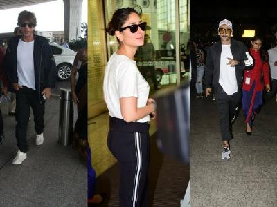 Shah Rukh Khan, Ranveer Singh, Kareena Kapoor Khan: Who rocks the monochrome look better at the airport?