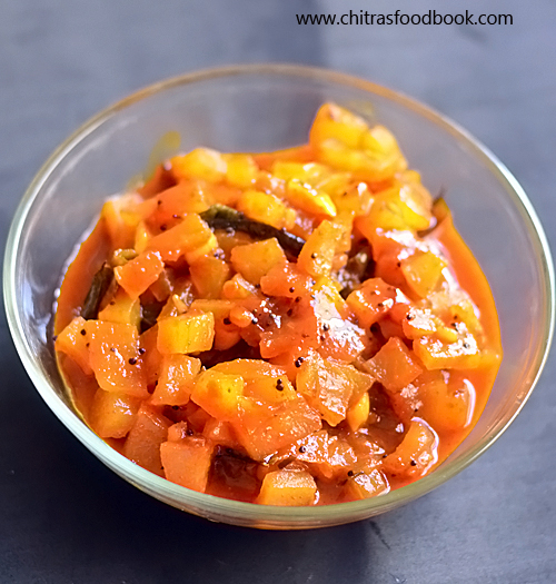 Papaya pickle recipe