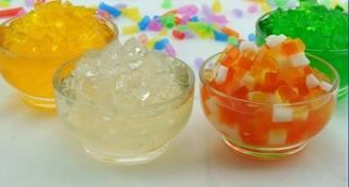 Resep Minuman Bubble jelyy fruty