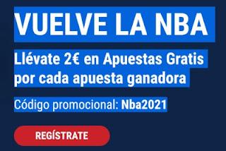Marathonbet VUELVE LA NBA Llévate 2€ en Apuestas Gratis hasta 24-12-2020