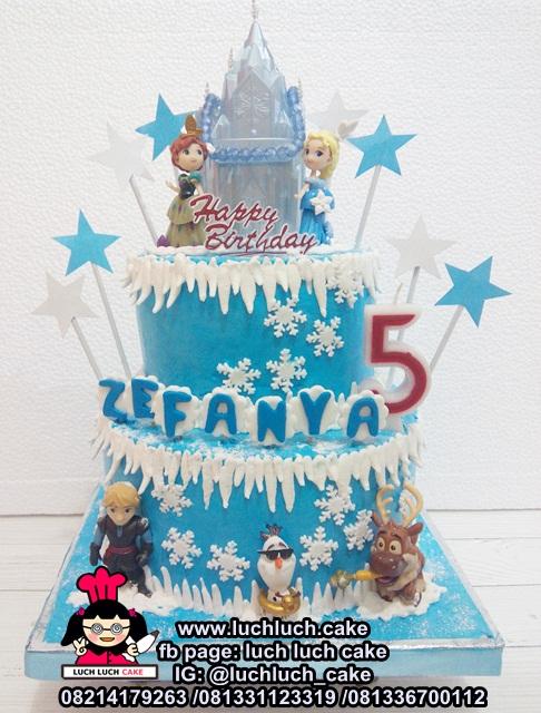 Kue Tart Tingkat 2 Buttercream Frozen
