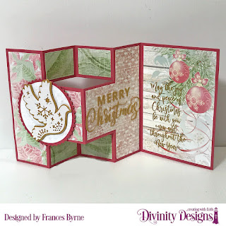 Stamp Set: Christmas Wishes  Custom Dies: Half Shutter Card With Layers, Christmas Dove, Merry Christmas Circles, Scalloped Circles  Paper Collection: Christmas 2018