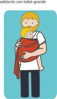 """Alt=""""Bandolera con bebé grande"""""""