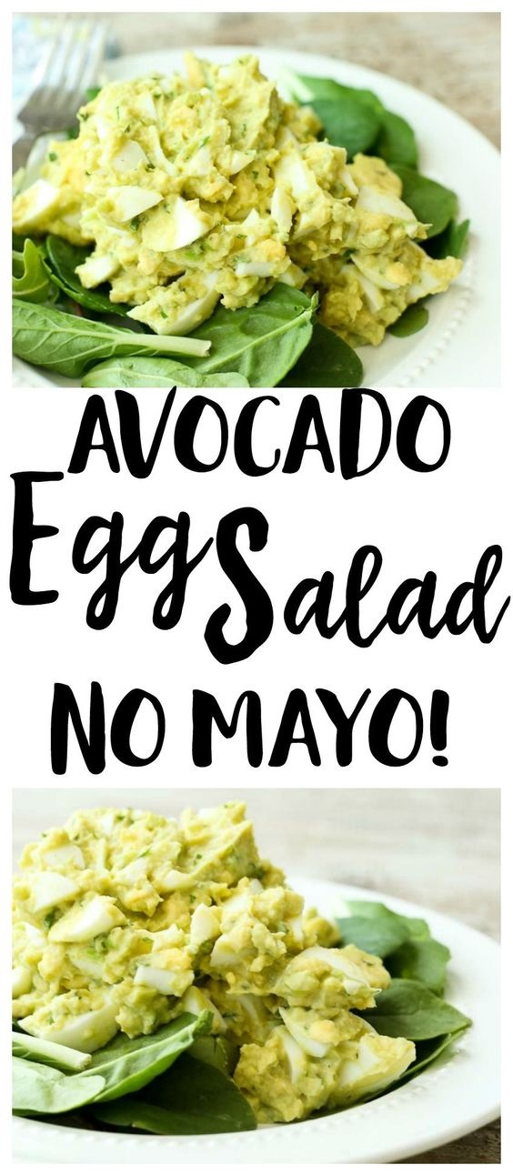avocado egg salad (no mayo)