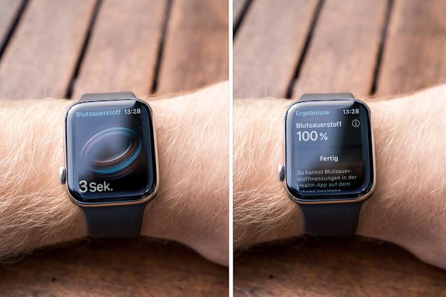 Apple Watch Series 6 Laufen Running Blutsauerstoff
