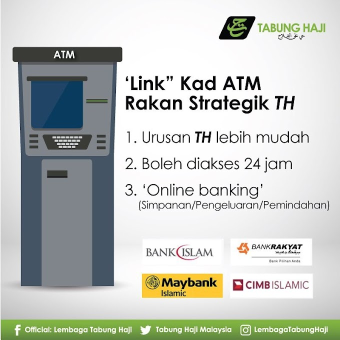Cara-Cara Untuk Link Kad ATM Bank Anda Ke Akaun Tabung Haji