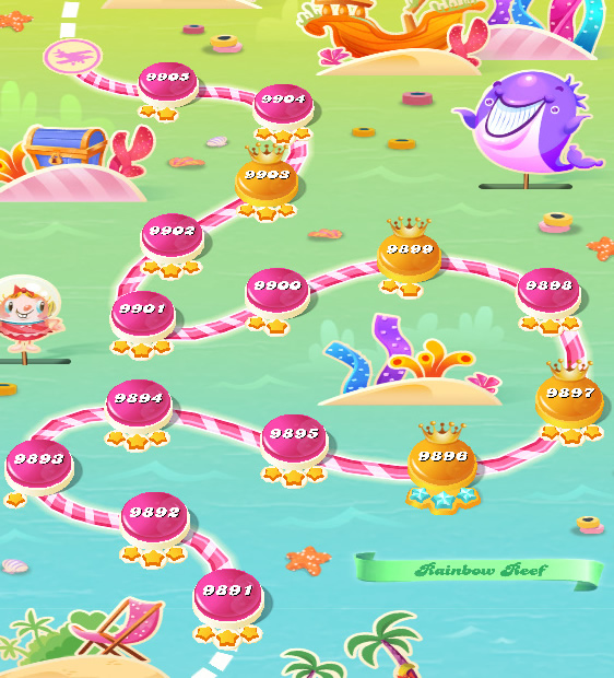 Candy Crush Saga level 9891-9905