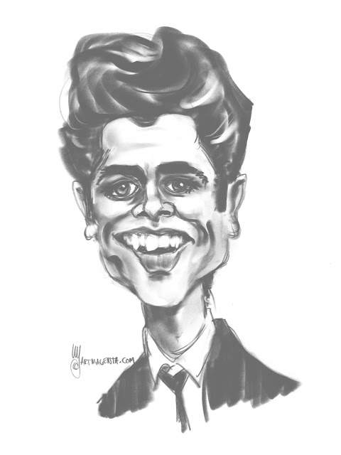 Cliff Richard Caricature by Artmagenta