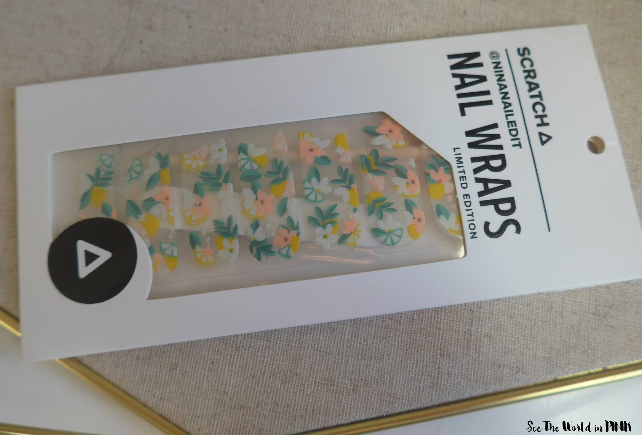 Manicure Monday - Scratch Citrus Blossom Wraps and July 2020 Monthly Mani Kit
