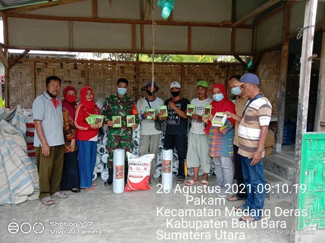 Komsos Bersama Kelompok Tani Diwilayah Binaan Dilakukan Personel Jajaran Kodim 0208/Asahan Jalin Silaturahmi