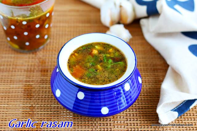 How to make garlic rasam